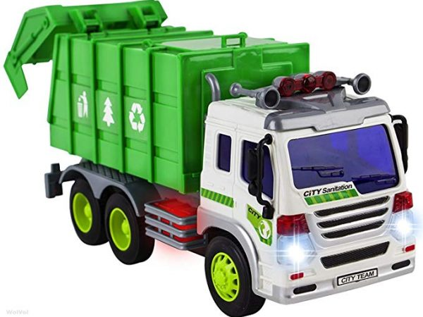 Garbage compactor trucks and garbage trucks